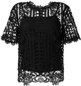 Blugirl floral lattice lace top - women - Polyester/Spandex/Elastane - 42