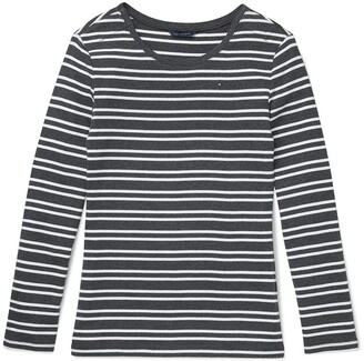 Tommy Hilfiger Women's Adaptive Long Sleeve T Shirt with Magnetic Closure at Shoulders