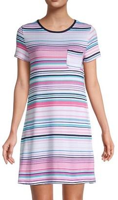 Nautica Striped Short-Sleeve Sleepshirt