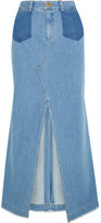 Sea Denim Maxi Skirt - Mid denim