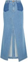 Sea Denim Maxi Skirt - Mid denim