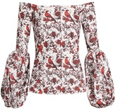 Caroline Constas Gisele off-the-shoulder cotton-blend blouse