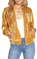 Amuse Society Women's Somedays Velvet Bomber