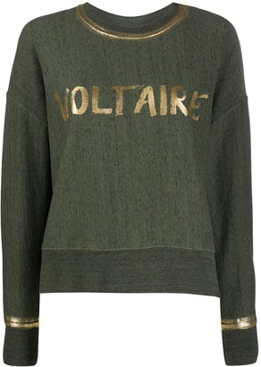 Zadig & Voltaire Champ crew neck foil sweater