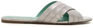 Blue Bird Shoes Cruzada Couro Metalizado flat sandals