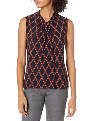 Tommy Hilfiger Women's Sleeveless Knot Kneck Knit TOP