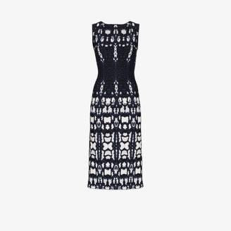 Alaia printed sleeveless midi dress
