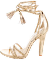 Rachel Zoe Odette Metallic Lace-Up Sandals w/ Tags