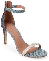 Joie Taupe & Dark Navy Abbott Ankle Strap High Heel Sandals