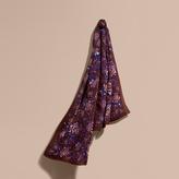 Burberry Peony Rose Print Silk Scarf