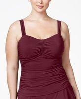 Profile by Gottex Plus Size Shirred Underwire Tankini Top