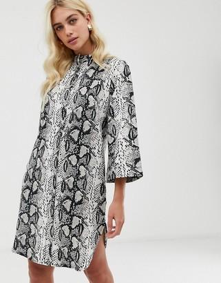 Zibi London snake print long sleeve shirt