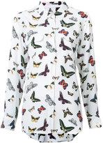 Equipment butterfly print shirt - women - Silk - M