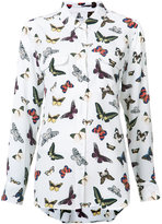 Equipment butterfly print shirt - women - Silk - S