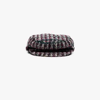 Maison Michel Multicoloured New Abby tweed baker boy hat