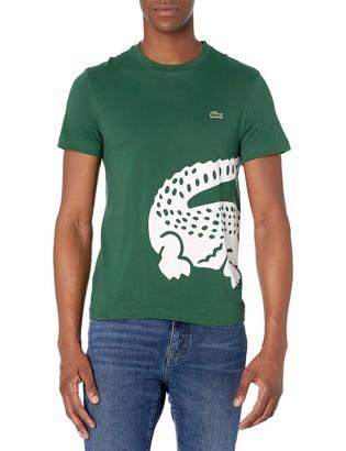 Lacoste Men's Short Sleeve Large Croc Jersey T-Shirt
