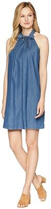 CeCe Sleeveless Halter Neck Dress w/ Neck Tie (Authentic) Women's Dress