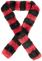 McQ long faux fur scarf