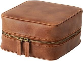 Cathy's Concepts Monogram Vegan Leather Tech Travel Case