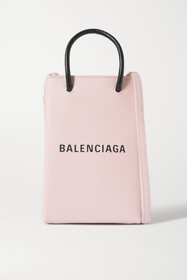 Balenciaga Shopping Mini Printed Textured-leather Shoulder Bag - Pink