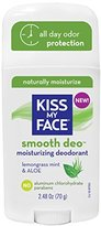 Kiss My Face Smooth Deodorant, Lemongrass Mint and Aloe Vera, 2.48 oz Stick