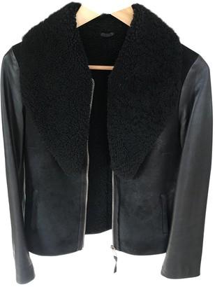 AllSaints Black Leather Coat for Women