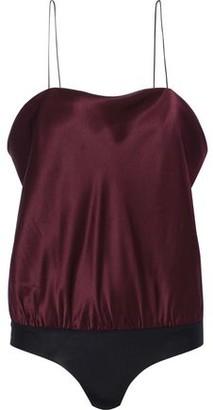 Alix Dean Silk-satin Bodysuit