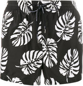 Dolce & Gabbana palm print swim shorts - men - Nylon/Polyester - 3