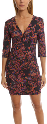 Pierre Balmain Deep V Printed Dress