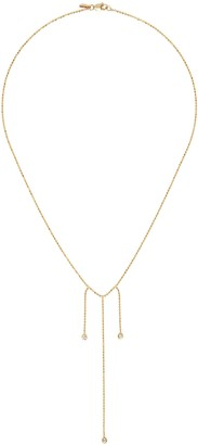 Xiao Wang Elements' diamond 14K bead necklace