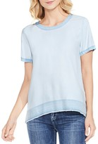 Vince Camuto Released Hem Pastel Fade Tee