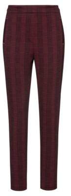 HUGO Regular-fit trousers in stretch fabric with checked pattern