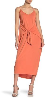 Lush Tie Front Knit Dress