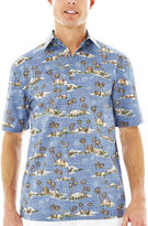 JCPenney Island Shores Short-Sleeve Printed Cotton Sport Shirt