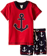 Hatley Retro Nautical Tee & Drawcord Shorts Set (Infant)