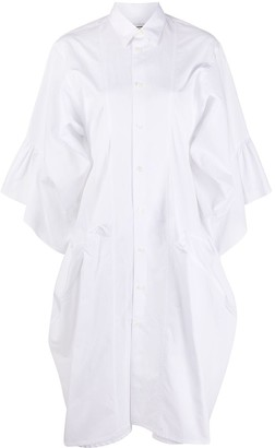 Junya Watanabe Ruffled-Cuff Shirt Dress
