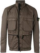 Stone Island pocket front rain jacket - men - Polyamide/Polyurethane Resin - S