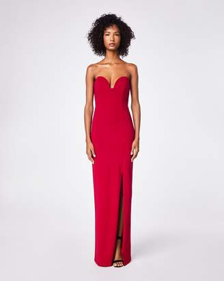 Nicole Miller Structured Heavy Jersey Strapless Gown
