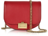 Victoria Beckham Cherry Leather Box With Chain Shoulder Bag