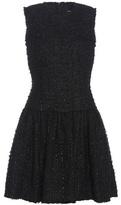 Simone Rocha Metallic Wool-blend Bouclé Dress