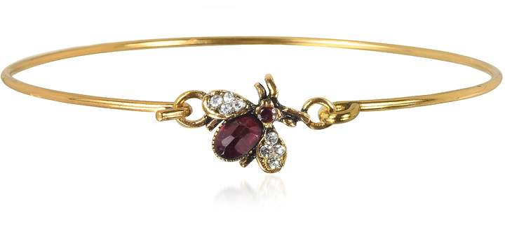 Alcozer & J Brass and Crystals Moschina Bangle