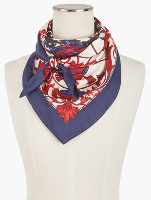 Talbots Silk Square Medallion Scarf