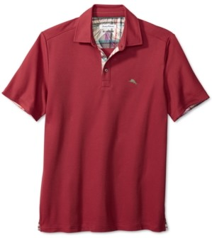 Tommy Bahama Men's Big & Tall Limited Edition 5 O'Clock Classic-Fit IslandZone Moisture-Wicking Pique Polo Shirt