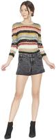 Alice + Olivia Carly Mixed Yarn Crewneck Sweater