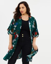 Floral Printed Woven Cape