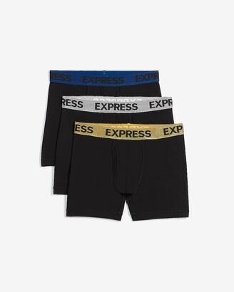 Express 3 Pack Metallic Waistband Boxer Briefs
