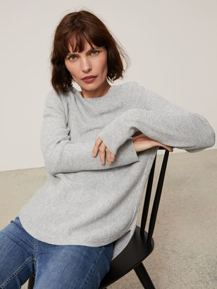 John Lewis & Partners Wool Blend Boat Neck Multi Rib Stitch Sweater