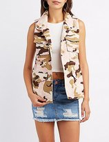 Charlotte Russe Camo Drawstring Cargo Vest