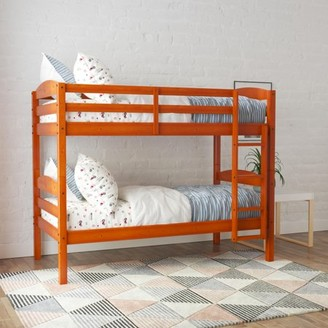 Better Homes & Gardens Leighton Wood Twin-Over-Twin Bunk Bed, Cherry