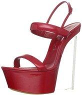 Casadei Women's Platform Clear Wedge Sandal